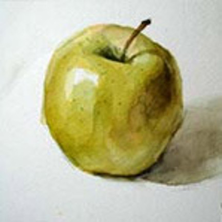 Apple real painting
