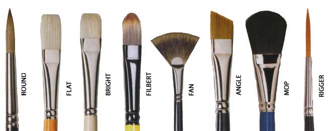 acrylic brushes